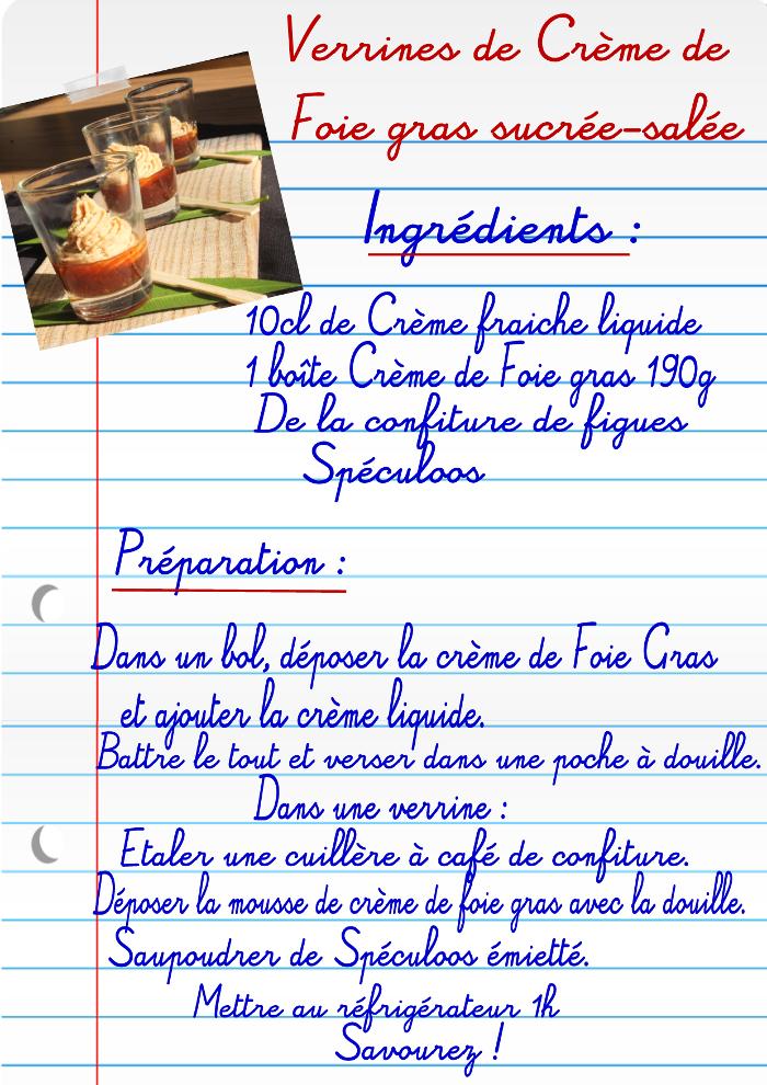 Verrines crème de foie gras